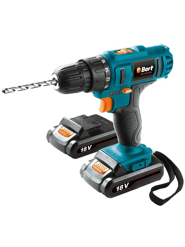 Электроинструмент Bort BAB-18Ux2Li-FDK New Выгодный набор + серт. 200Р!!! cordless drill bort bab 108nx2li fdk