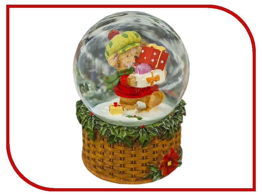 Снежный шар СИМА-ЛЕНД Медвежонок с подарками 14.5x10x10cm Музыкальный 3244438 кухонный набор сима ленд шеф повар хрюша 3505364