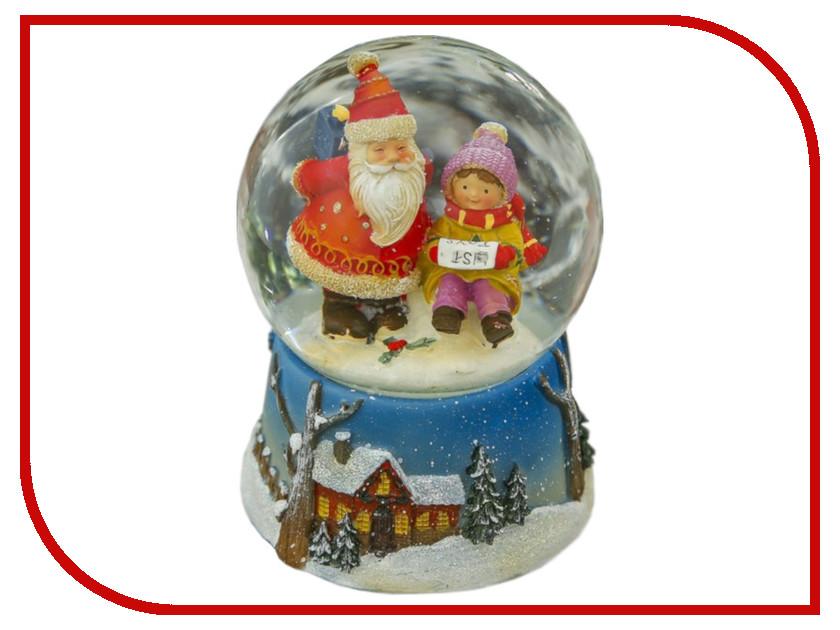 Снежный шар СИМА-ЛЕНД Дедушка мороз и мальчик 15x10.5x10.5cm Музыкальный 3244435 алексей шипицин дедушка2 0 пути неисповедимы…