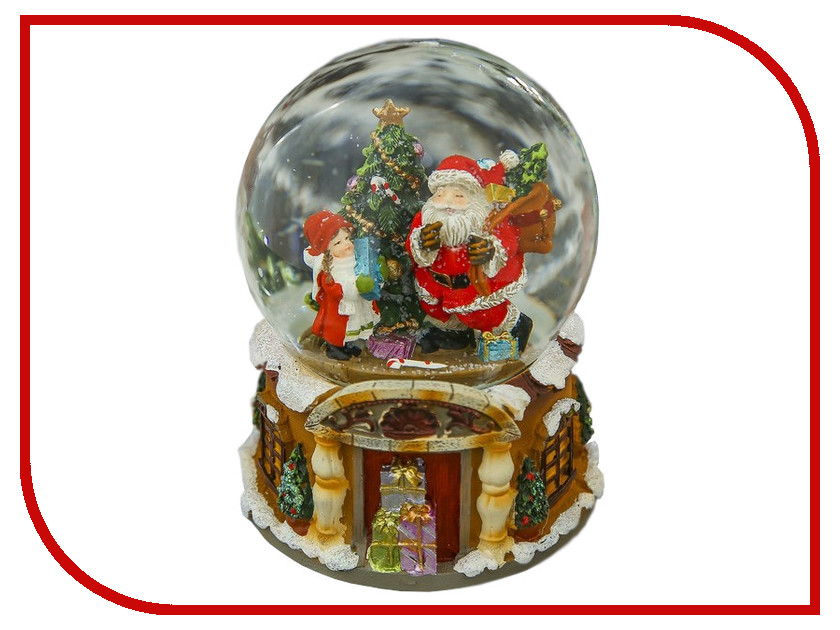 Снежный шар СИМА-ЛЕНД Дедушка мороз и девочка 14x11x11cm Музыкальный 3244436 алексей шипицин дедушка2 0 пути неисповедимы…
