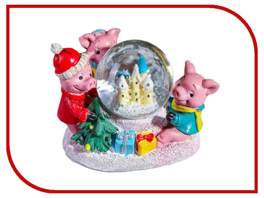 Снежный шар СИМА-ЛЕНД Три поросёнка d-4.5cm 3572034 кухонный набор сима ленд шеф повар хрюша 3505364