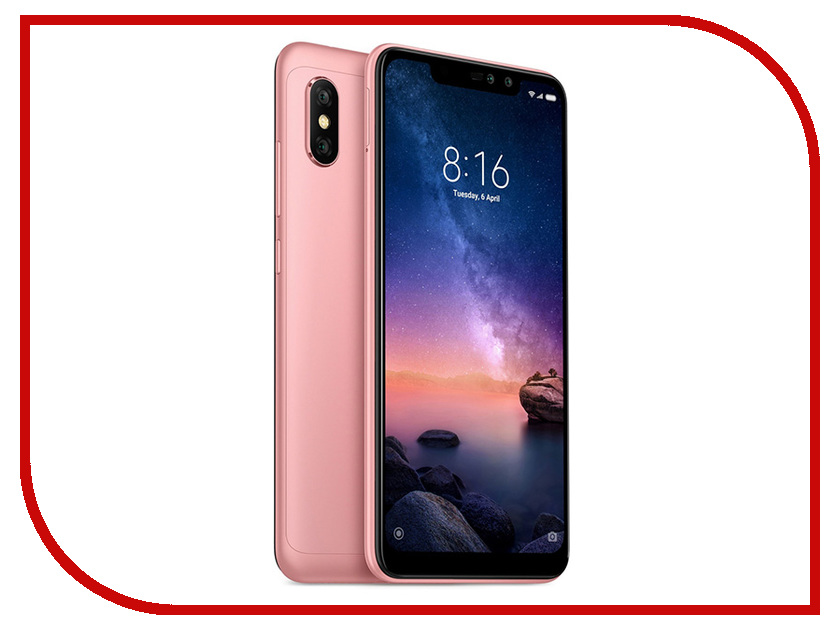 Сотовый телефон Xiaomi Redmi Note 6 Pro 3/32GB Rose Gold сотовый телефон xiaomi redmi s2 4gb ram 64gb gold