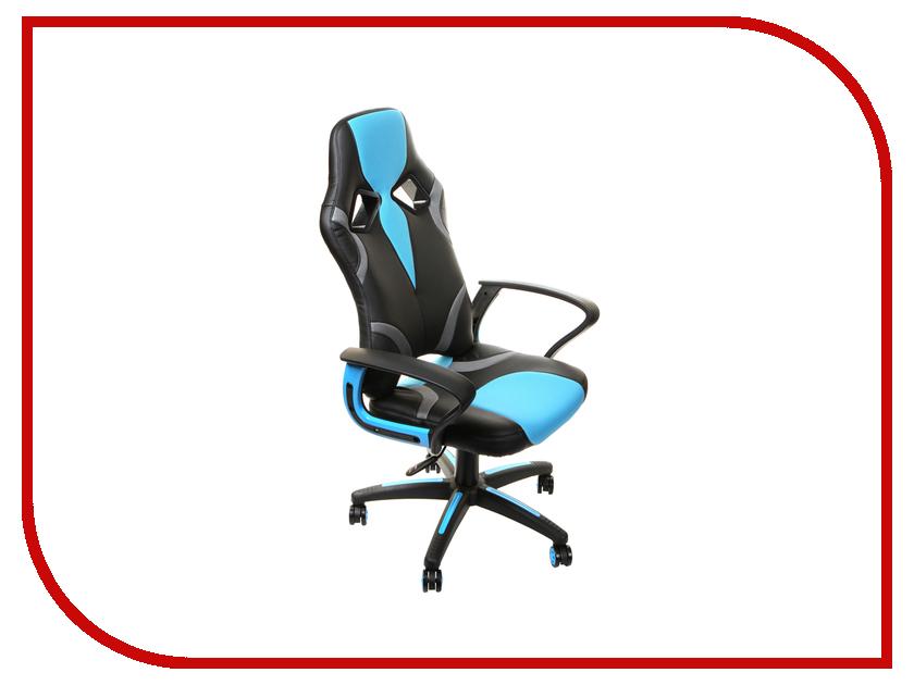 цена на Компьютерное кресло TetChair Runner искусственная кожа, ткань Black-Light Blue 36-6/23 12406