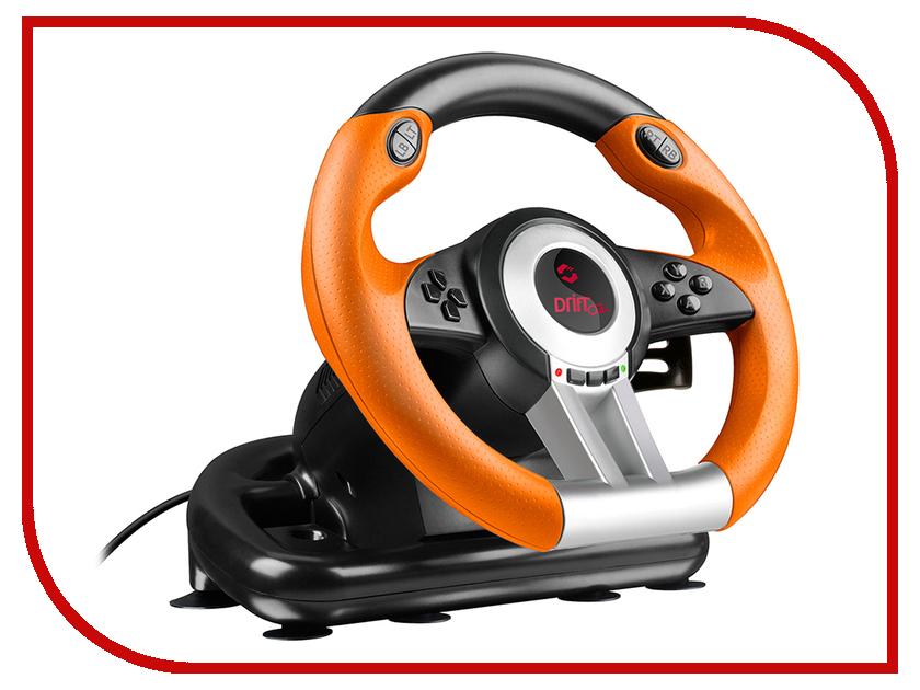 Руль Speedlink DRIFT O.Z. Racing Wheel Black-Orange SL-6695-BKOR-01 2017 newest full ratio four wheel drive 2 4g 40mkh remote control high speed car 1 18 desert racing remoto drift car toys