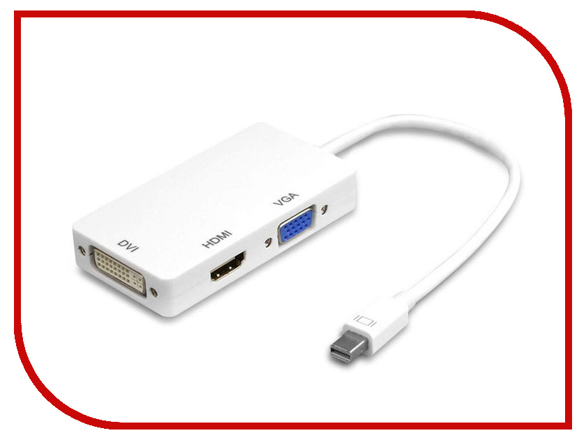 Аксессуар Orient C310 Mini DisplayPort M to HDMI/ DVI-I/ VGA White