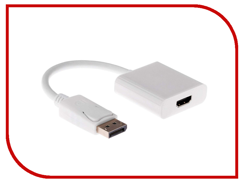 Аксессуар Orient C306 DisplayPort M to HDMI F 0.2m White promotion 5pcs coaxial coax rf adapter connectors tv pal male plug to f female m f
