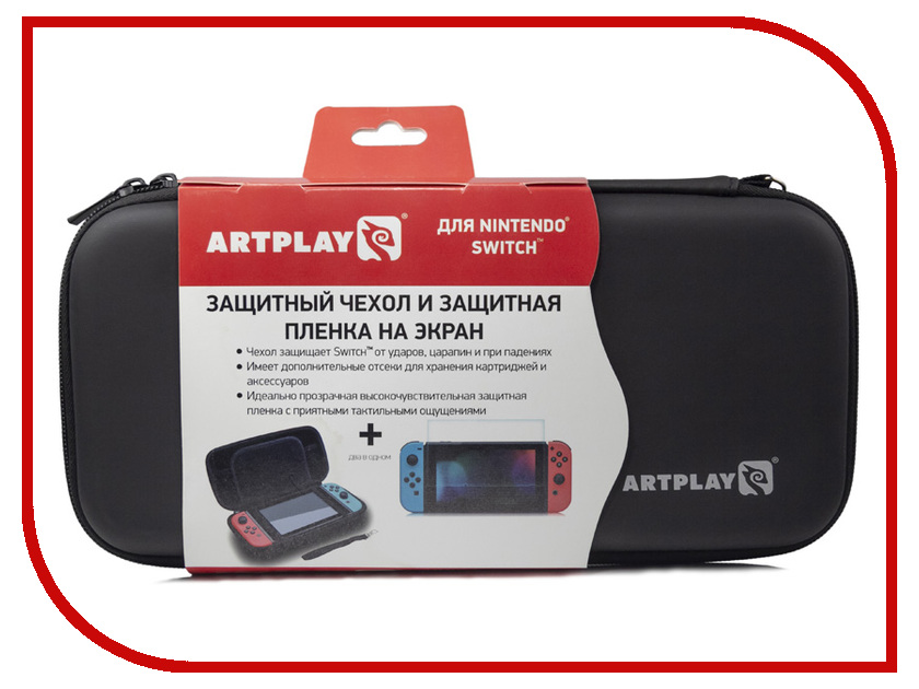 Чехол + защитная пленка Artplays ACSWT29 для Nintendo Switch аксессуар для игровой приставки nintendo switch чехол и защитная пленка
