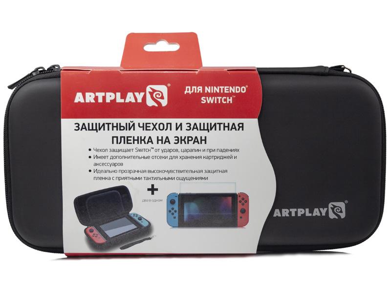 Чехол + защитная пленка Artplays ACSWT29 для Nintendo Switch геймпад artplays ns45 для nintendo switch acswt30 черный