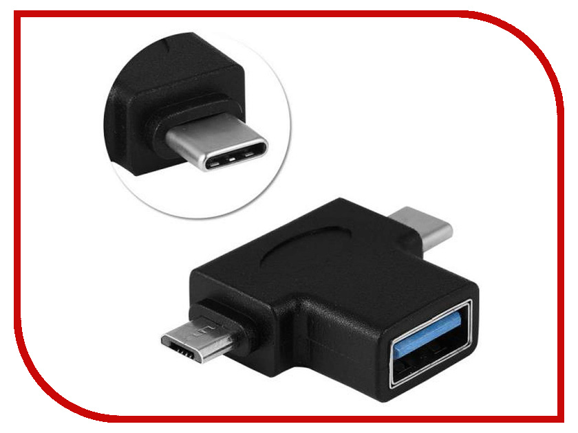 Аксессуар Orient UC-302 USB 3.0 OTG AF - Type-C M + micro-B M Black аксессуар orient usb c 3 0 type c uc 410 1m black