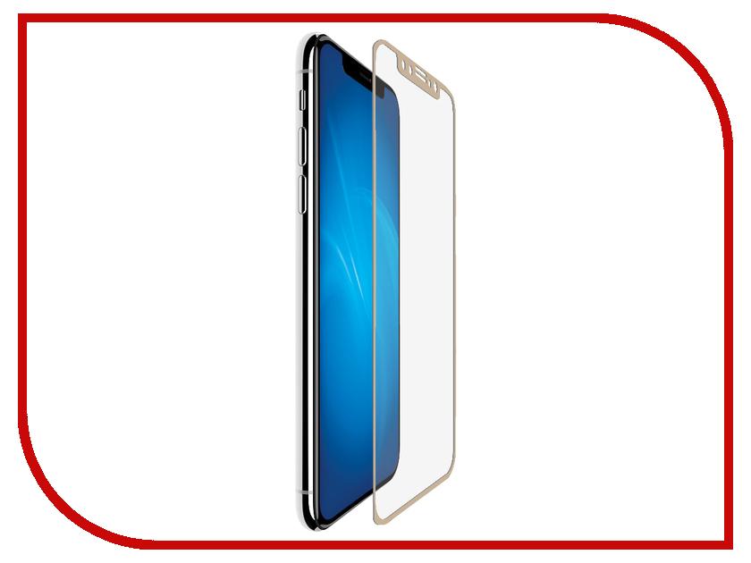 Аксессуар Защитное стекло для APPLE iPhone X/XS Neypo Full Glue Glass Gold NFGL5599 modern fashion crearive apple knobs gold drawer cabinet knobs pulls glass diamond dresser cupboard door handles pulls knobs