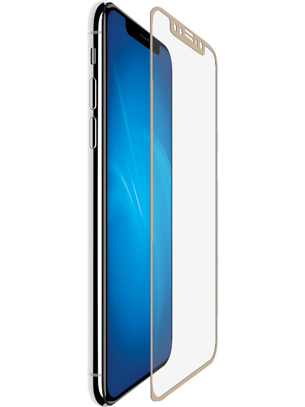 Аксессуар Защитное стекло Neypo для APPLE iPhone X/XS Full Glue Glass Gold NFGL5599 защитное стекло caseguru для iphone x xs glue fs black