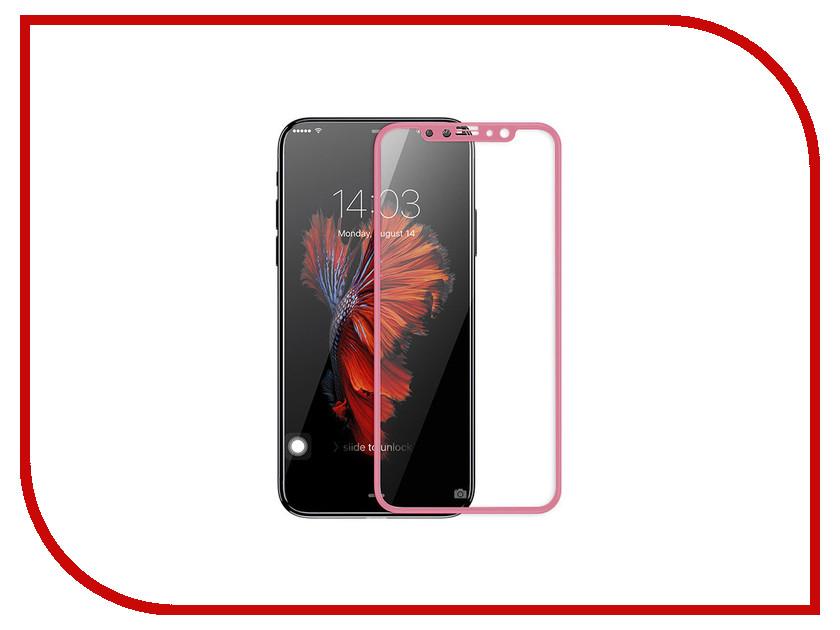 Аксессуар Защитное стекло для APPLE iPhone X/XS Neypo Full Glue Glass Pink NFGL5741 аксессуар защитное стекло для apple iphone xs max neypo full glue glass black nfgl5540