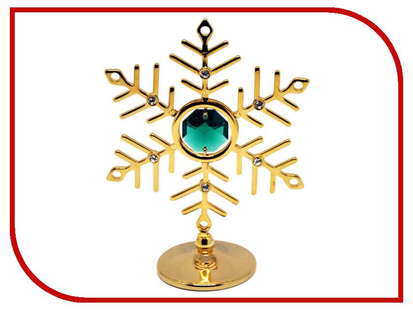 Новогодний сувенир Фигурка Crystocraft Снежинка 93-001-GEM фигурки crystocraft фигурка ангел с голубем