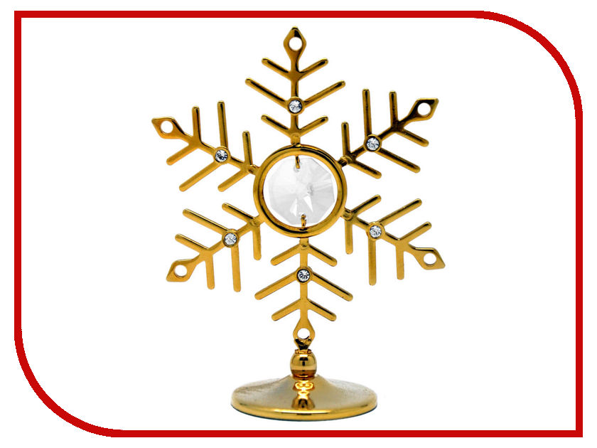 Новогодний сувенир Фигурка Crystocraft Снежинка 93-001-GCL фигурки crystocraft фигурка ангел с голубем