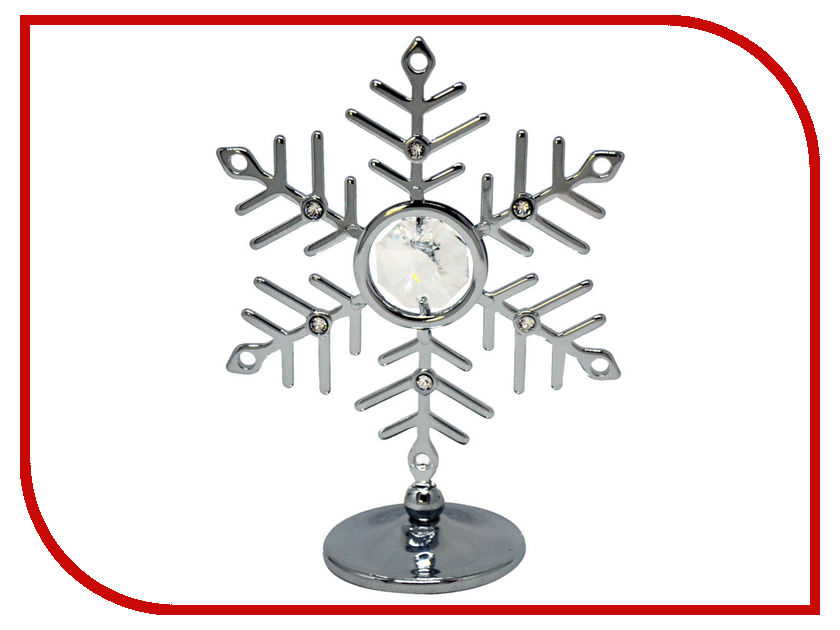 Новогодний сувенир Фигурка Crystocraft Снежинка 93-001-CCL
