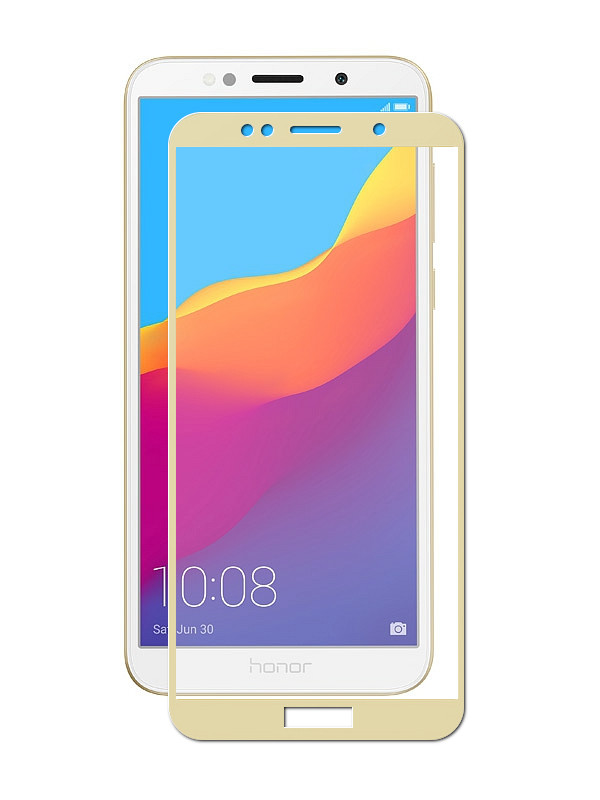 Аксессуар Защитное стекло Neypo для Huawei Y5 Prime 2018 Full Screen Glass Gold NFG5101 black new 7 85 inch regulus 2 itwgn785 tablet touch screen panel digitizer glass sensor replacement free shipping