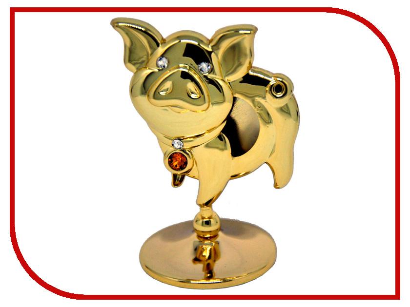 Новогодний сувенир Фигурка Crystocraft Свинья 406-001-GTO