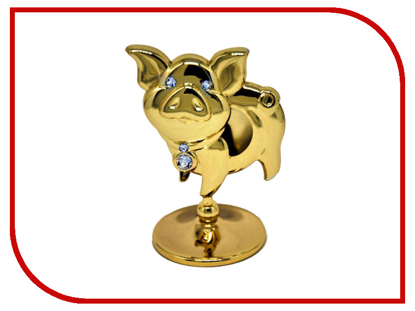 Новогодний сувенир Фигурка Crystocraft Свинья 406-001-GC1 фигурки crystocraft фигурка ангел с голубем