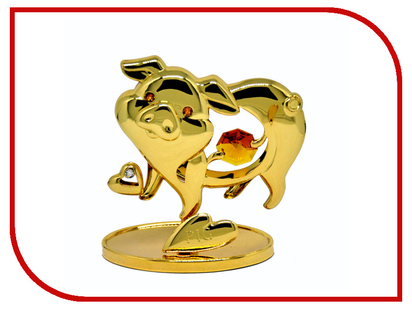 Новогодний сувенир Фигурка Crystocraft Свинья 351-001-GTO