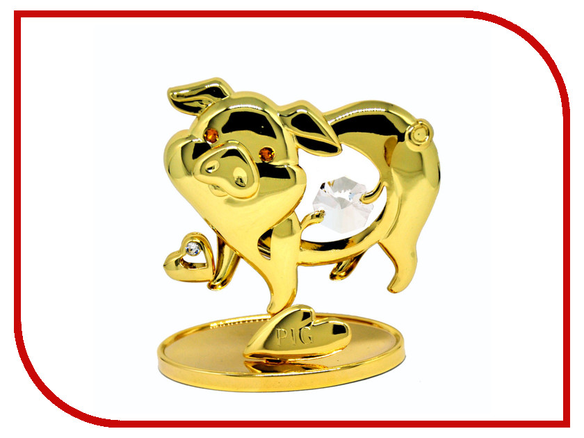 Новогодний сувенир Фигурка Crystocraft Свинья 351-001-GCL статуэтка crystocraft миниатюра u0314 001 cbl
