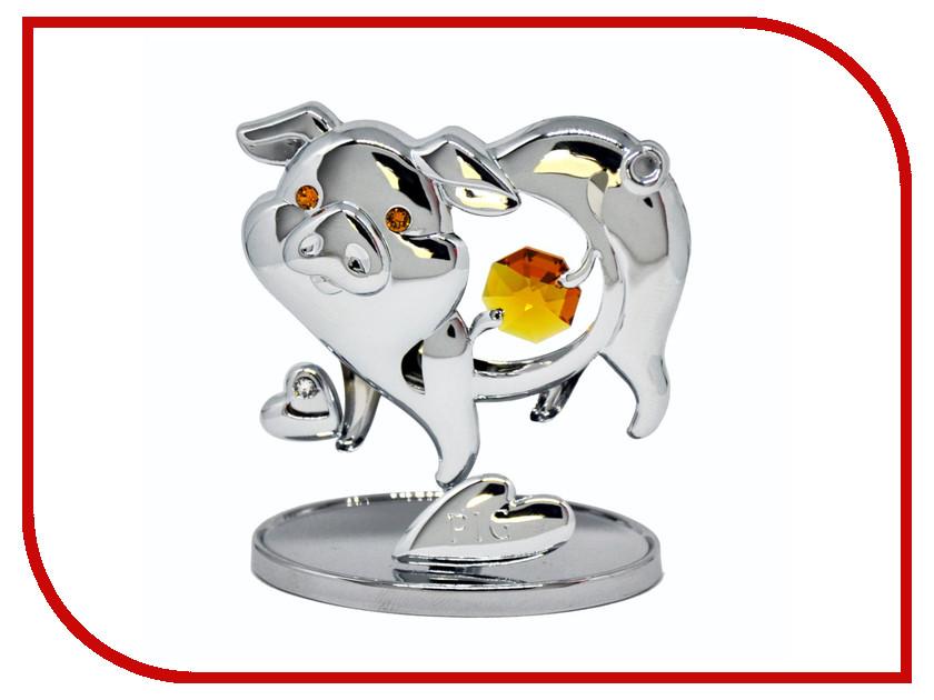 Новогодний сувенир Фигурка Crystocraft Свинья 351-001-CTO фигурки crystocraft фигурка ангел с голубем