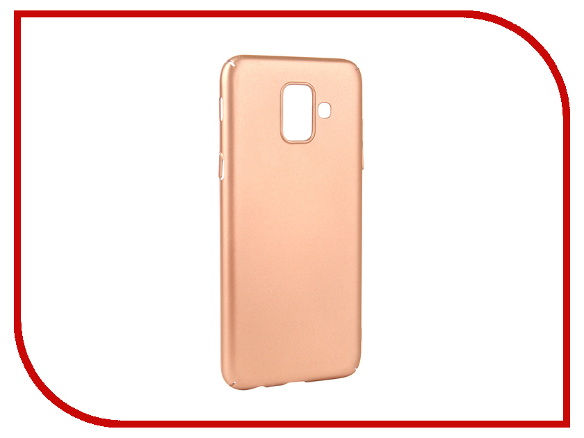 Аксессуар Чехол для Samsung Galaxy A6 2018 Neypo Soft Touch Gold ST4654 цена и фото