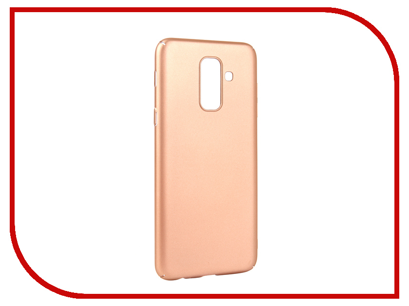 Аксессуар Чехол для Samsung Galaxy A6 Plus 2018 Neypo Soft Touch Gold ST4655 аксессуар чехол neypo soft touch для apple iphone 8 plus 7 plus gold st3341