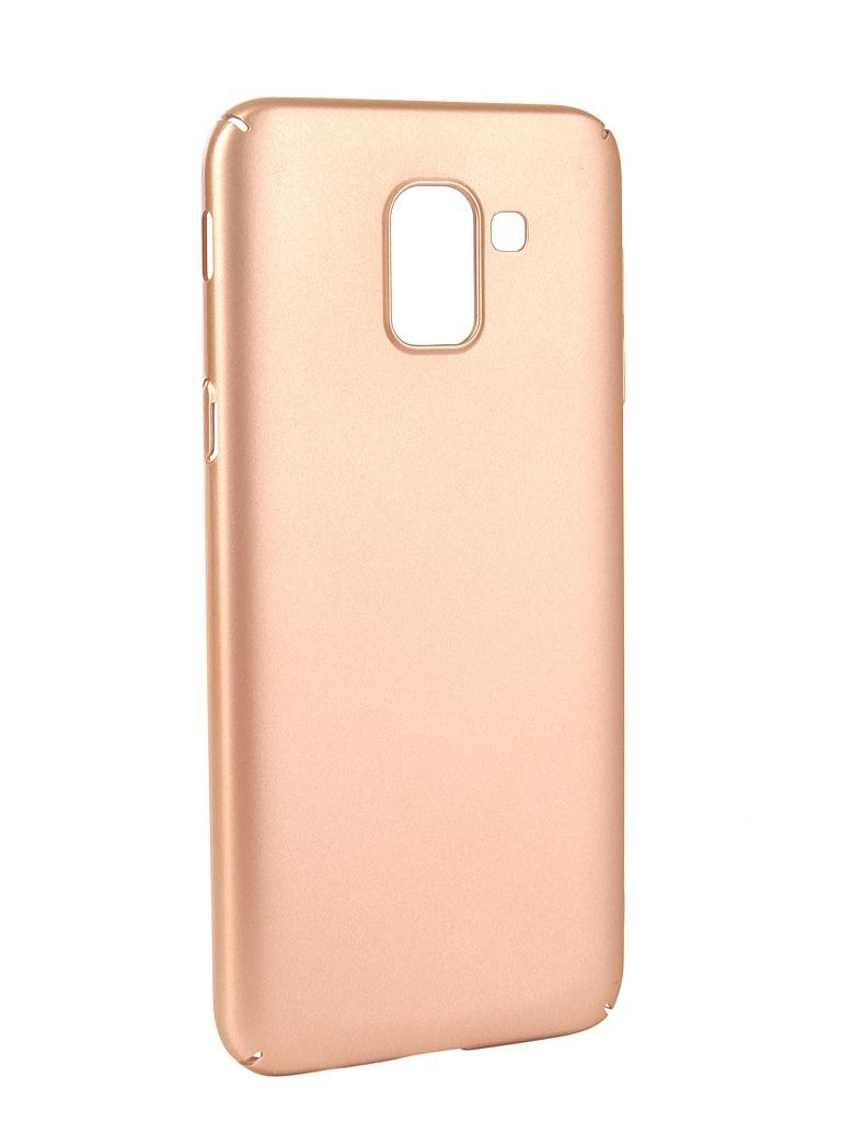 Аксессуар Чехол Neypo для Samsung Galaxy J6 2018 Soft Touch Gold ST4649