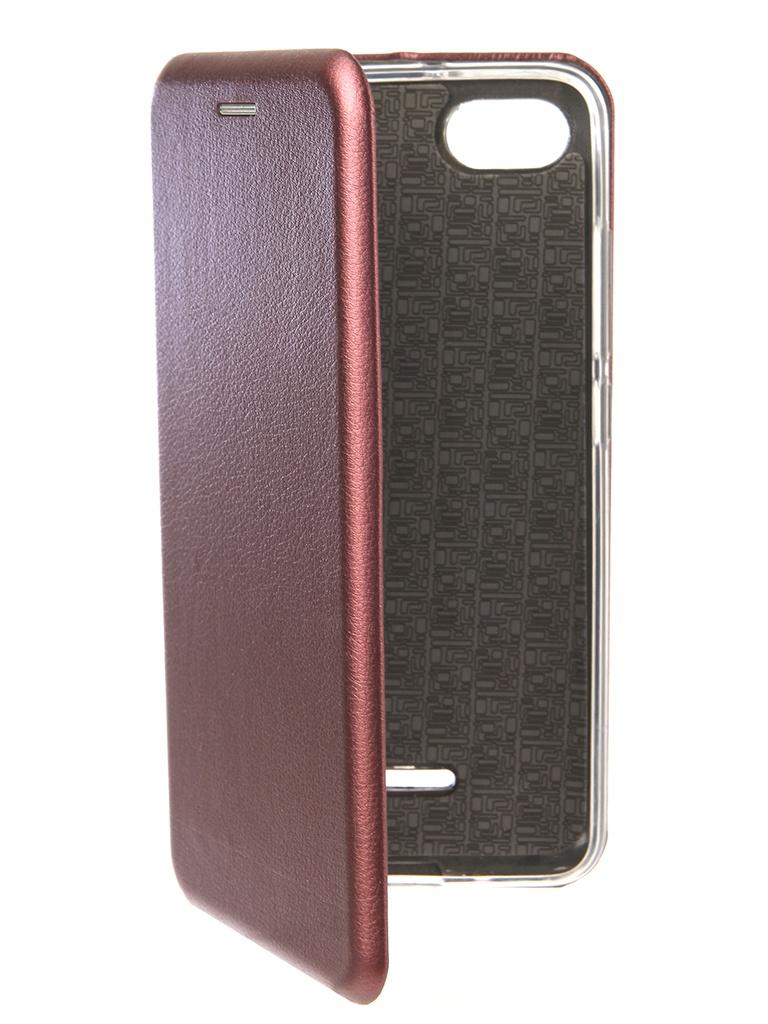 Аксессуар Чехол Neypo для Xiaomi Redmi 6A Premium Burgundy NSB4912 смолтойс мягкая игрушка собачка 45 см 1889 мл 45