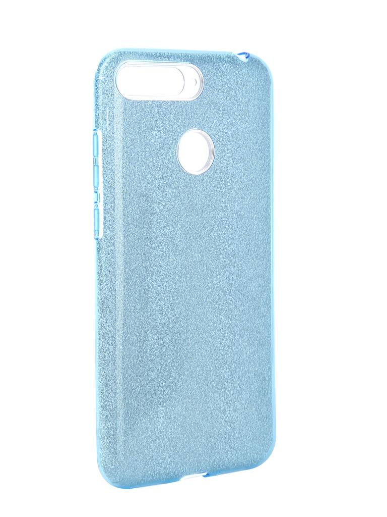 Аксессуар Чехол Neypo для Honor 7A Pro Brilliant Light Blue Crystals NBRL5254