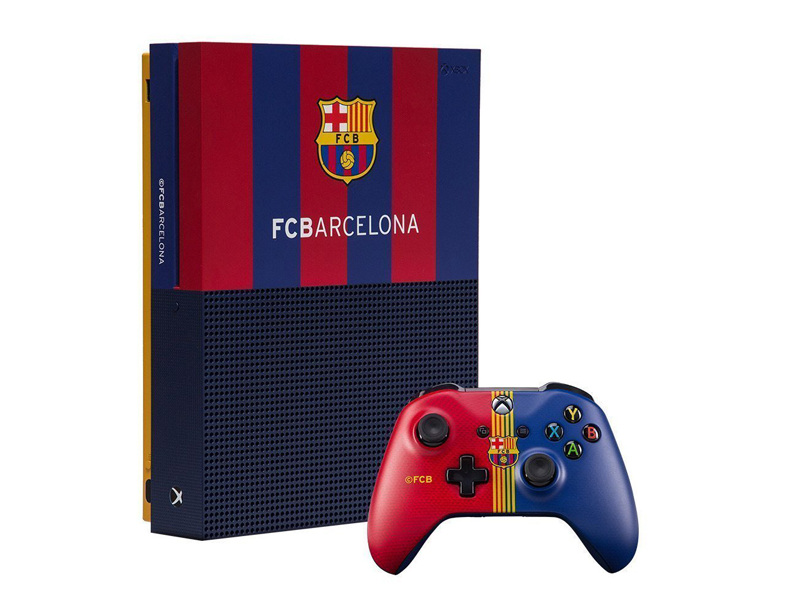 лучшая цена Игровая приставка Microsoft Xbox One S 1Tb Барселона. Камп Ноу RB-XB09
