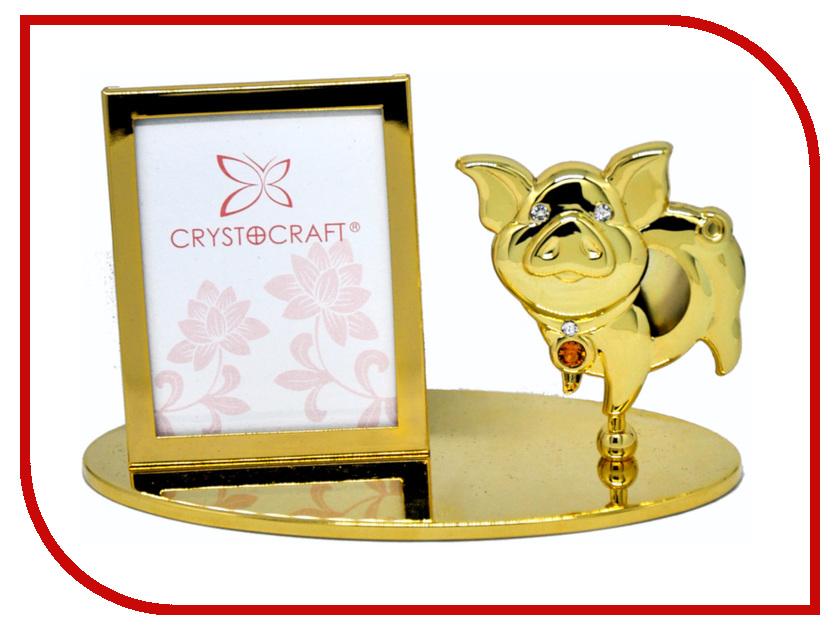 Фоторамка Crystocraft с фигуркой свиньи 406-042-GTO 406