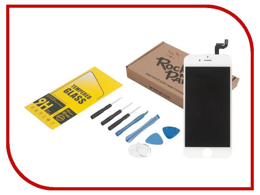 Инструмент для самостоятельного ремонта телефона RocknParts Дисплей для iPhone 6S White +защитное стекло+набор инструментов+пошаговая инструкция 650658 дисплей monitor lcd iphone 6s white