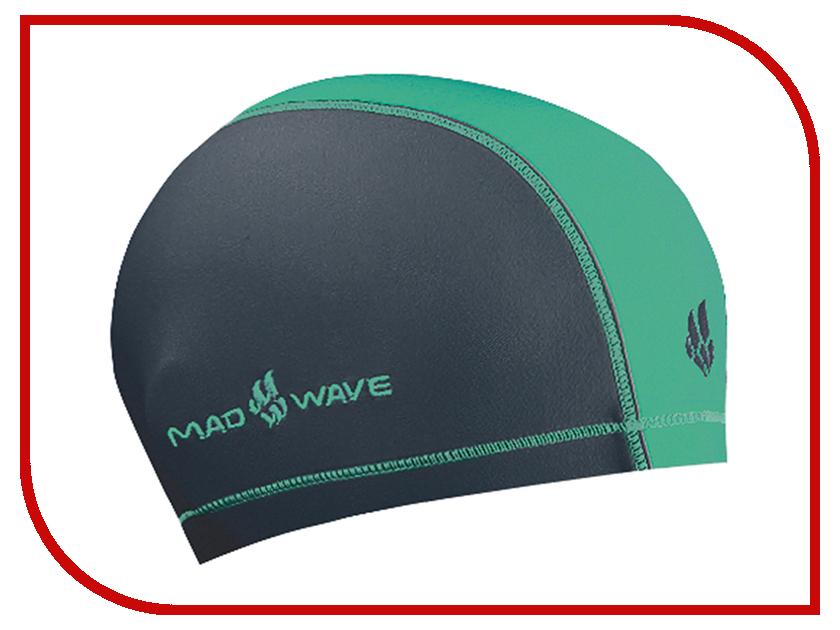 Шапочка Mad Wave Duotone Grey-Turquoise M0527 02 0 16W шапочка mad wave lux shower turquoise m0517 02 0 16w