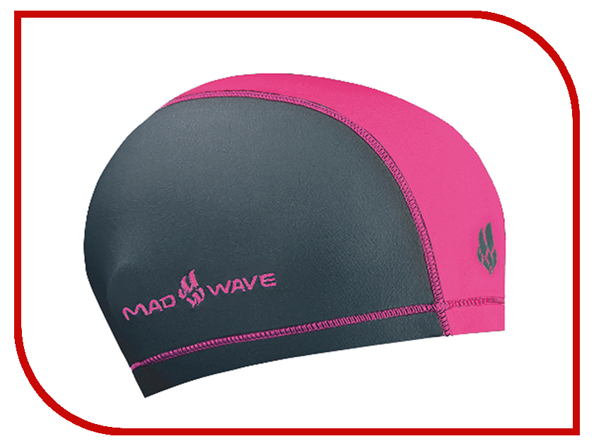 Шапочка Mad Wave Duotone Grey-Pink M0527 02 0 11W шапочка mad wave lux shower red m0517 02 0 05w