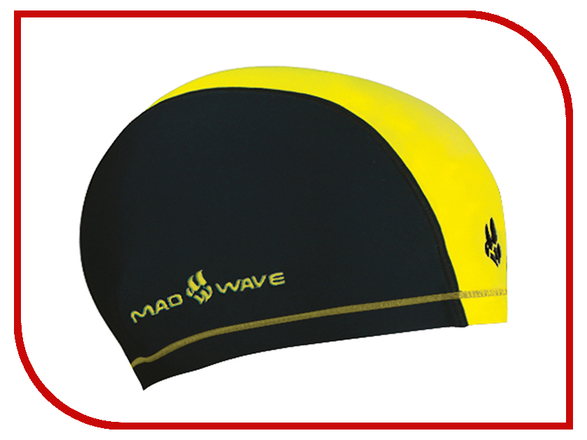 Шапочка Mad Wave Duotone Black-Yellow M0527 02 0 06W шапочка mad wave lux shower turquoise m0517 02 0 16w