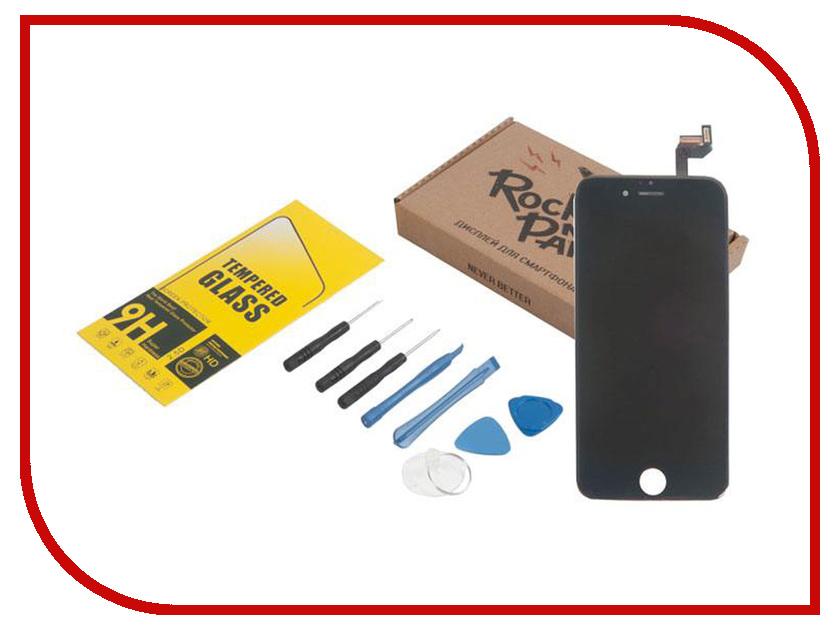 Комплект для самостоятельного ремонта телефона RocknParts Дисплей дня iPhone 6S Black +защитное стекло+набор инструментов+пошаговая инструкция 646351
