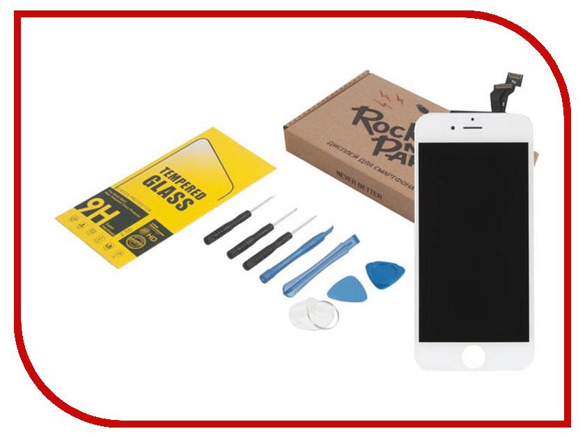 Комплект для самостоятельного ремонта телефона RocknParts Дисплей для iPhone 6 White +защитное стекло+набор инструментов+пошаговая инструкция 650644 белый сенсорный экран стеклом дисплей для замены планшета ipad мини инструментов