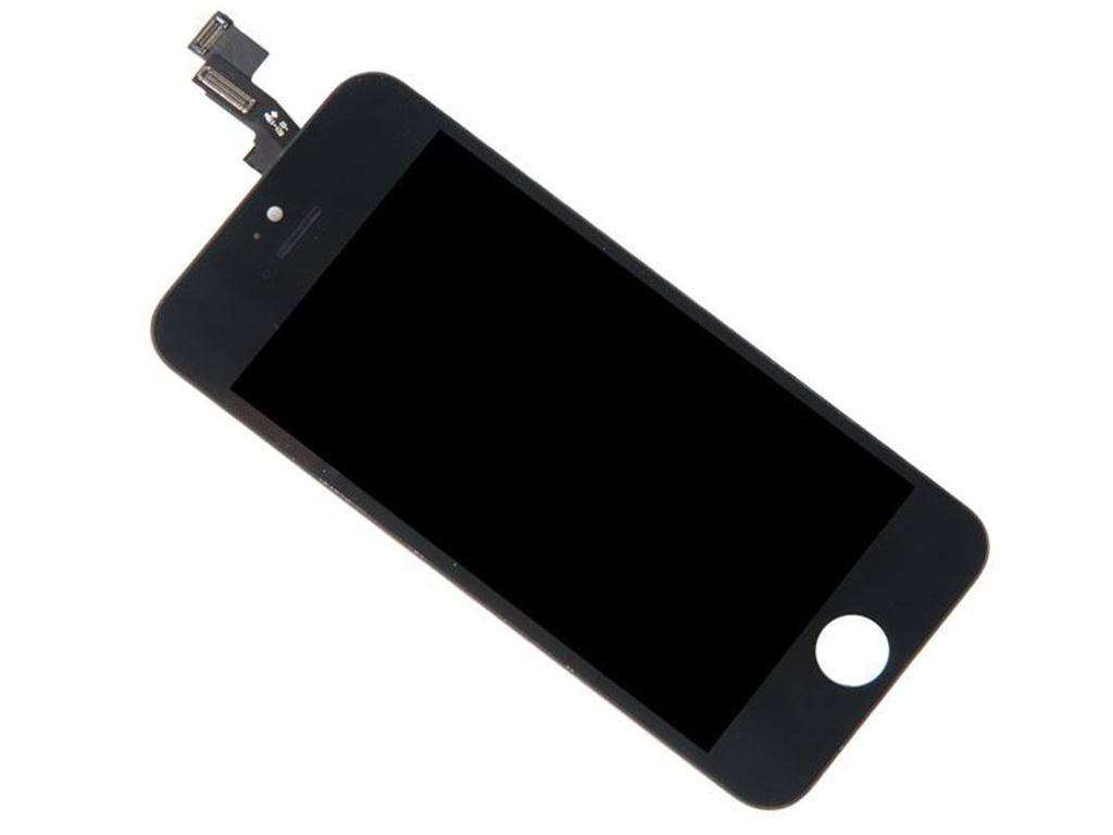 Инструмент для самостоятельного ремонта телефона RocknParts Дисплей для iPhone 5S Black +защитное стекло+набор инструментов+пошаговая инструкция 646316