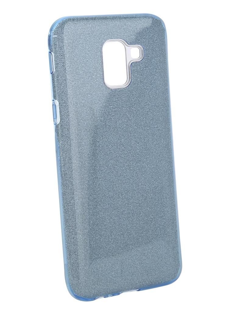 Аксессуар Чехол Neypo для Samsung Galaxy J6 2018 Brilliant Light Blue Crystals NBRL4889