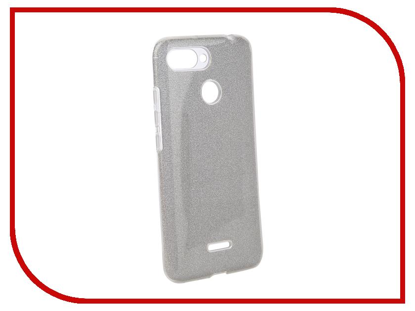 Аксессуар Чехол для Xiaomi Redmi 6 Neypo Brilliant Silver Crystals NBRL5309 чехол книжка red line book type для xiaomi redmi 5 black