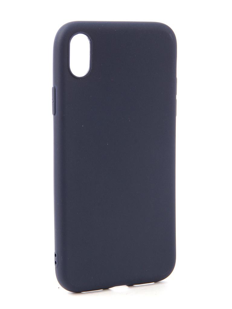 Аксессуар Чехол Neypo для APPLE iPhone XR Soft Matte Dark Blue NST5451 аксессуар чехол neypo для nokia 6 1 plus x6 2018 soft matte dark blue nst6132