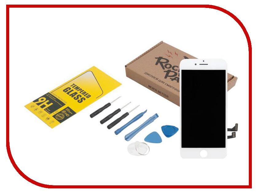 Комплект для самостоятельного ремонта телефона RocknParts Дисплей для iPhone 7 White +защитное стекло+набор инструментов+пошаговая инструкция 650659 белый сенсорный экран стеклом дисплей для замены планшета ipad мини инструментов