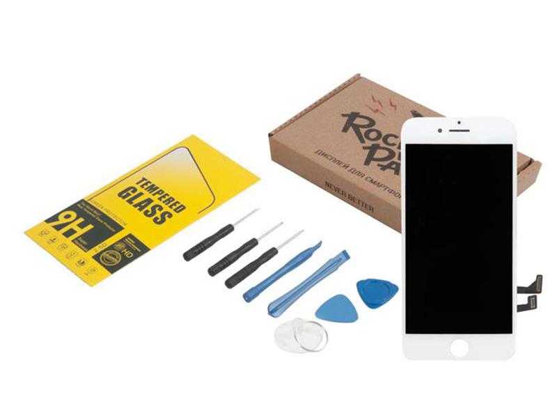 Инструмент для самостоятельного ремонта телефона RocknParts Дисплей для iPhone 7 White +защитное стекло+набор инструментов+пошаговая инструкция 650659 цены онлайн