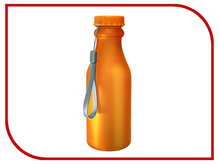 Бутылка Be First 500ml Orange Matte шейкер be first 500ml transparent ts1327 blk