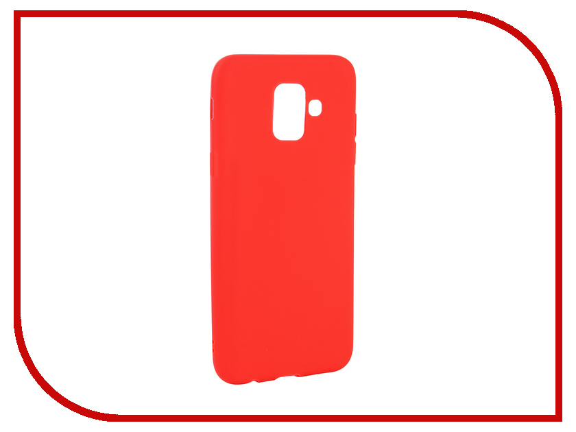 Аксессуар Чехол для Samsung Galaxy A6 2018 Neypo Soft Matte Red NST4628 аксессуар чехол для samsung galaxy a6 plus 2018 neypo soft matte dark blue nst4633