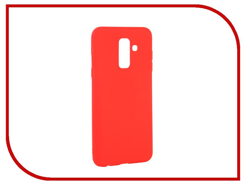 Аксессуар Чехол для Samsung Galaxy A6 Plus 2018 Neypo Soft Matte Red NST4632 аксессуар чехол для samsung galaxy a6 plus 2018 neypo soft matte dark blue nst4633