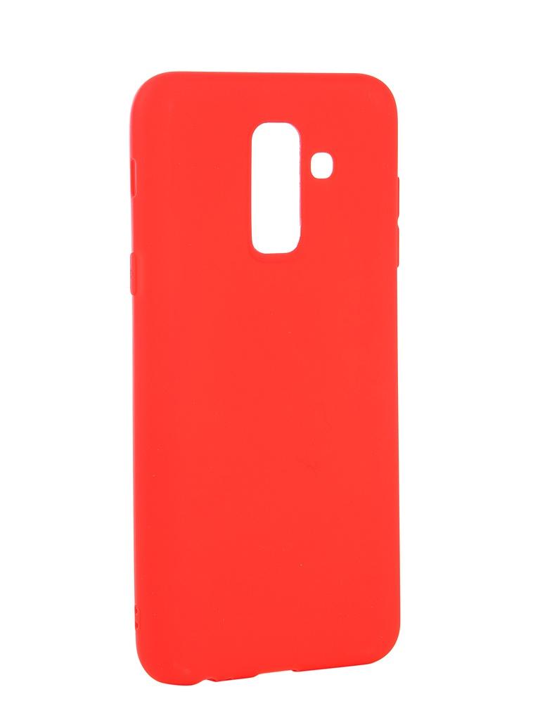 Аксессуар Чехол Neypo для Samsung Galaxy A6 Plus 2018 Soft Matte Red NST4632 аксессуар чехол для samsung galaxy a6 plus 2018 neypo soft matte red nst4632