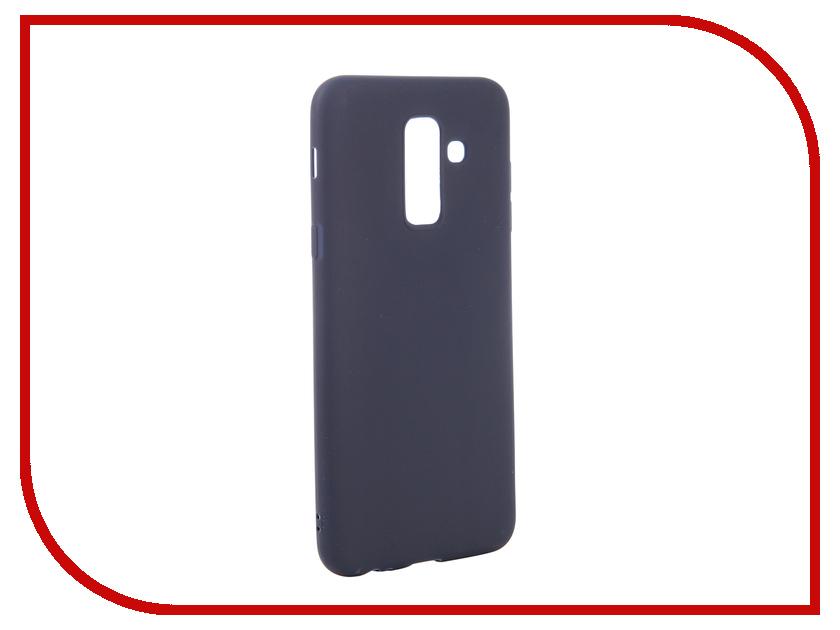 Аксессуар Чехол для Samsung Galaxy A6 Plus 2018 Neypo Soft Matte Dark Blue NST4633 аксессуар чехол для samsung galaxy a6 j8 2018 caseguru soft touch 0 5mm blue cobalt 103335