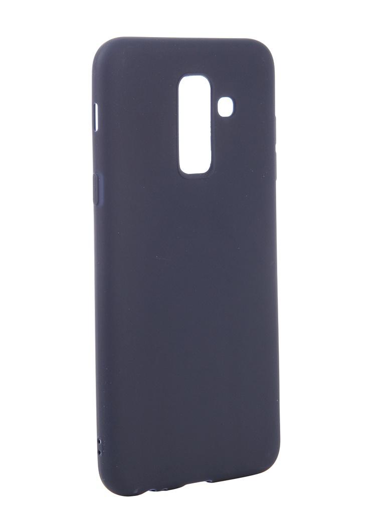 Аксессуар Чехол Neypo для Samsung Galaxy A6 Plus 2018 Soft Matte Dark Blue NST4633 аксессуар чехол для samsung galaxy a6 plus 2018 neypo soft matte red nst4632
